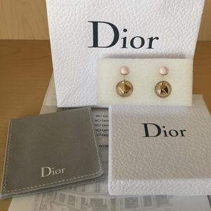 Dior pink & gold Tribales earrings new w/ receipt
